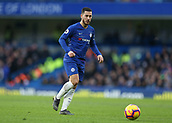 2nd February 2019, Stamford Bridge, London, England; EPL Premier League football, Chelsea versus Huddersfield Town; Eden Hazard of Chelsea passing the ball into midfield