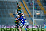 Donchadh O'Sullivan Kerry in action against Ryan Coyle Cavan in the All Ireland Minor Semi Final in Croke Park on Sunday.