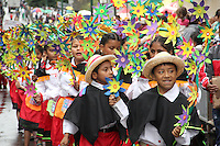 PASTO -COLOMBIA, 02-01-2016. El desfile del carnavalito dió inicio al Carnaval de Negros y Blancos 2016. Allí los niños os niños realizan su propio carnaval con carrozas a escala infantil, concebidas y elaboradas por ellos mismos, al igual que pequeños colectivos coreográficos, murguitas, comparsitas y disfraces individuales. / With Carnavalito parade began the Blacks and Whites' Carnival 2016. There the children make their own carnival with floats child scale, conceived and developed by themselves, like small choreographic collectives, murguitas, comparsitas and individual costumes. Photo: VizzorImage / Leonardo Castro / Cont