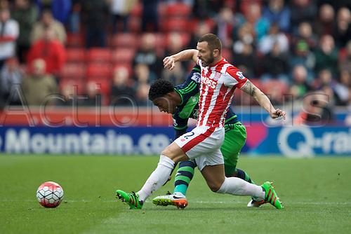 02.04.2016. Britannia Stadium, Stoke, England. Barclays Premier League. Stoke City versus Swansea City.  Stoke City defender Phil Bardsley.