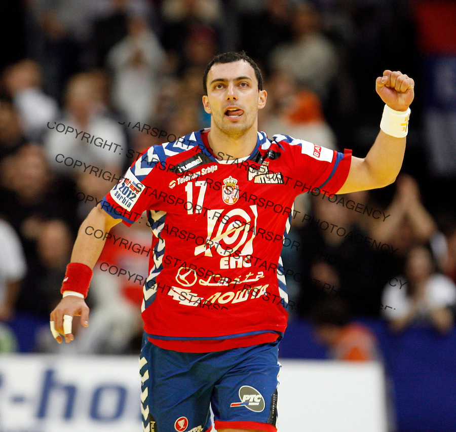 Rajko Prodanovic during men`s EHF EURO 2012 handball championship final game between Serbia and Denmark in Belgrade, Serbia, Sunday, January 29, 2011.  (photo: Pedja Milosavljevic / thepedja@gmail.com / +381641260959)