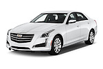 2016 Cadillac CTS Luxury Collection 4 Door sedan Angular Front stock photos of front three quarter view