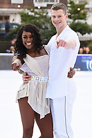 Perri Shakes-Drayton &amp; Hamish Gaman&nbsp; at the &quot;Dancing on Ice&quot; launch photocall at the Natural History Museum, London, UK. <br /> 19 December  2017<br /> Picture: Steve Vas/Featureflash/SilverHub 0208 004 5359 sales@silverhubmedia.com