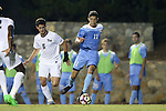 16 September 2016: North Carolina's David October (ENG) (11) and Pitt's Luca Mellor (ENG) (5). The University of North Carolina Tar Heels hosted the University of Pittsburgh Panthers in Chapel Hill, North Carolina in a 2016 NCAA Division I Men's Soccer match. UNC won the game 1-0.