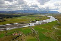 Munaðarnes og Norðurá séð til suðurs, Borgarbyggð áður Stafholtstungnahreppur / Munadarnes and river Nordura viewiung south, Borgarbyggd former Stafholtstungnahreppur