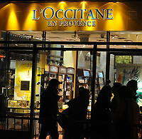 L'Occitane shop in London, UK.  L'Occitane en Provence is an international retailer of body, face, fragrances and home products based in Manosque, France.