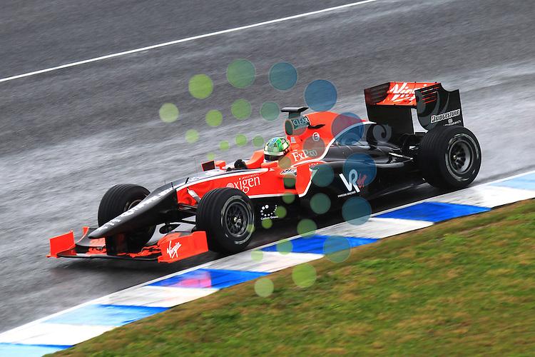 F1 Tests, Jerez Spain  10. - 14. February 2010.Lucas Di Grassi [BRA] Virgin Racing ..Hasan Bratic;Koblenzerstr.3;56412 Nentershausen;Tel.:0172-2733357;.hb-press-agency@t-online.de;http://www.uptodate-bildagentur.de;.Veroeffentlichung gem. AGB - Stand 09.2006; Foto ist Honorarpflichtig zzgl. 7% Ust.;Hasan Bratic,Koblenzerstr.3,Postfach 1117,56412 Nentershausen; Steuer-Nr.: 30 807 6032 6;Finanzamt Montabaur;  Nassauische Sparkasse Nentershausen; Konto 828017896, BLZ 510 500 15;SWIFT-BIC: NASS DE 55;IBAN: DE69 5105 0015 0828 0178 96; Belegexemplar erforderlich!..