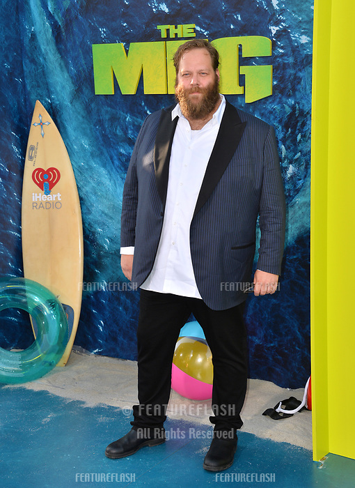 """LOS ANGELES, CA - August 06, 2018: Olafur Darri Olafsson at the US premiere of """"The Meg"""" at the TCL Chinese Theatre"""