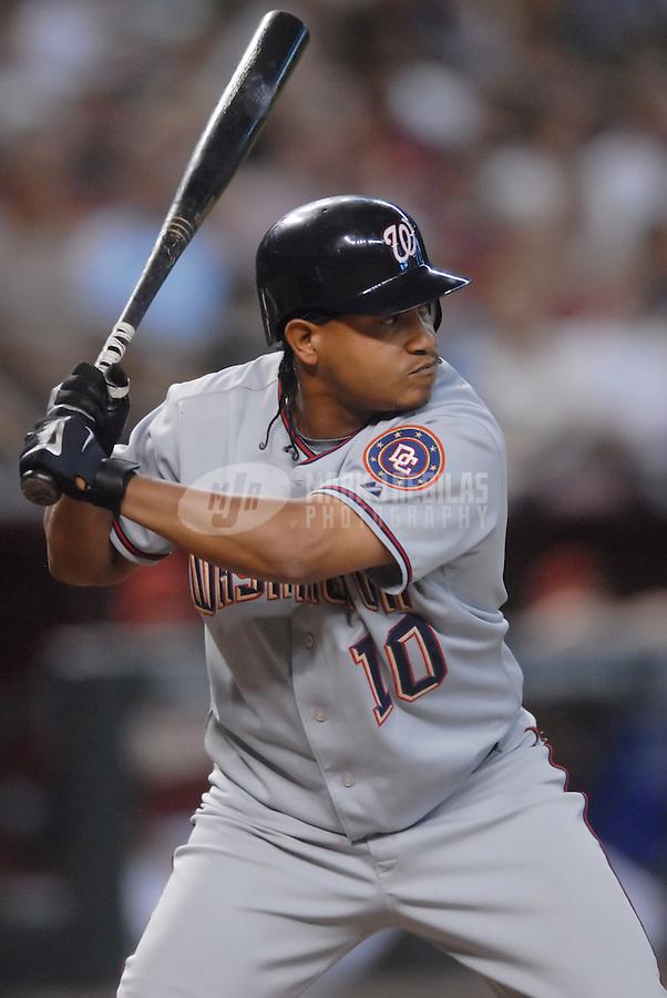 Aug 12, 2007; Phoenix, AZ, USA; Washington Nationals second baseman (10) Ronnie Belliard against the Arizona Diamondbacks at Chase Field. Mandatory Credit: Mark J. Rebilas
