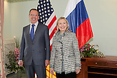 United States Secretary of State Hillary Rodham Clinton meets with Foreign Minister Sergey Lavrov of Russia in Munich, Germany, on February 4, 2012. .Credit: State Department via CNP
