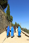"""Israel, Ein Karem, the """"Visitation Stairs"""", the ascent from Mary's Well to the Church of the Visitation"""