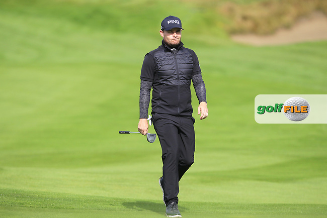 Tyrrell Hatton (ENG) on the 9th fairway during Round 2 of the British Masters 2017 at Close House Golf Club, Tyneside, England. 29/09/2017<br /> Picture: Golffile | Thos Caffrey<br /> <br /> <br /> All photo usage must carry mandatory copyright credit     (&copy; Golffile | Thos Caffrey)