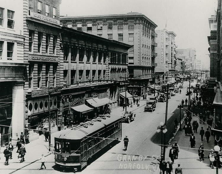 1920 .UNDATED..Historical...Granby Street looking North from City Hall Avenue...NEG#.NRHA#..
