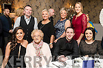 Enjoying the Kerins Park 50th anniversary social held at The Rose Hotel, Tralee, on Saturday night last, were front l-r: Niamh O'Donovan, Mamie O'Shea, Leigh McCord and Kim McCord. Back l-r: John O'Shea, Irene McCord, Louise O'Shea and Chris O'Shea.