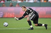 CARSON, CA – July 2, 2011: Chivas USA goalie Dan Kennedy (1) during the match between Chivas USA and Chicago Fire at the Home Depot Center in Carson, California. Final score Chivas USA 1, Chicago Fire 1.