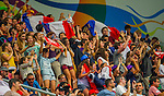 Fans enjoying the action and atmosphere during the Cathay Pacific / HSBC Hong Kong Sevens 2013 on March 2013 at Hong Kong Stadium, Hong Kong, China. Photo by Manuel Queimadelos / The Power of Sport Images