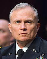 Defense Intelligence Agency (DIA) Director Lieutenant General Robert P. Ashley, Jr., United States Army, testifies before the US Senate Committee on Intelligence during a hearing to examine worldwide threats on Capitol Hill in Washington, DC on Tuesday, February 13, 2018<br /> Credit: Ron Sachs / CNP /MediaPunch