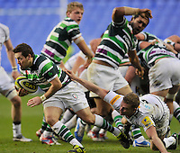 Reading, England. Darren Allinson of London Irish in action during the LV= Cup match between London Irish and Sale Sharks at Madejski Stadium on November 11, 2012 in Reading, England.