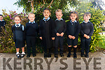 First day of school for junior infants l-r Grace May Favier, Sean McGillicuddy, Lauren Spillane, Dara O'Donoghue, Ruby Fitzgerald and Jack Galvin at the Glenflesk NS last Monday.