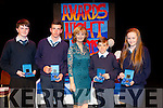 Award winners<br /> --------------------<br /> St Josephs secondary school Ballybunion awards night was in the Tintean Theatre in the town last Thursday night and special guest was Aidee Roche,from the Chernobal charity group to present some students with their awards,pictured L-R Milan Hartney,Darragh,Ryan Downey and Rachel Mulvihill all received special achievment awards.