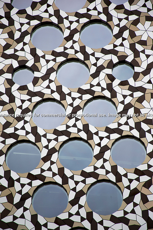 Detail of the Ravensbourne College building, North Greenwich...(c) Malcolm McCurrach | New Wave Images UK