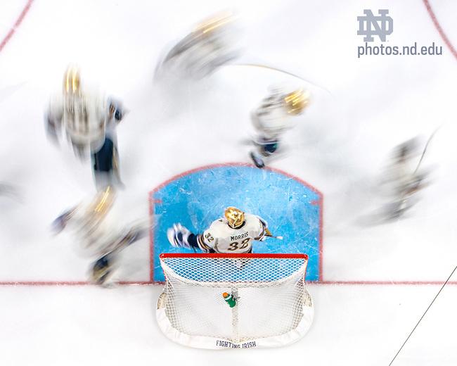 January 11, 2020; Hockey warmups (Photo by Matt Cashore/University of Notre Dame)