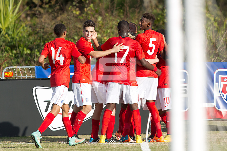 Lakewood Ranch, FL - November 30, 2014: The Brazilian Under-17 Men's National team and the National team of England played to a 2-2 draw during the 2014 Nike International Friendlies at Premier Sports Campus.