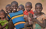 Children in Lugi, a village in the Nuba Mountains of Sudan. The area is controlled by the Sudan People's Liberation Movement-North, and frequently attacked by the military of Sudan.