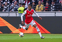 goal, Tor zum 0:1 für Joe Wilcock (Arsenal London) - 19.09.2019:  Eintracht Frankfurt vs. Arsenal London, UEFA Europa League, Gruppenphase, Commerzbank Arena<br /> DISCLAIMER: DFL regulations prohibit any use of photographs as image sequences and/or quasi-video.
