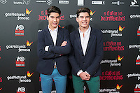 Gemeliers attend the Premiere of the movie &quot;El club de los incomprendidos&quot; at callao Cinema in Madrid, Spain. December 1, 2014. (ALTERPHOTOS/Carlos Dafonte) /NortePhoto<br />