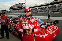May 1, 2009; Richmond, VA, USA; NASCAR Sprint Cup Series driver Tony Stewart during qualifying for the Russ Friedman 400 at the Richmond International Raceway. Mandatory Credit: Mark J. Rebilas-