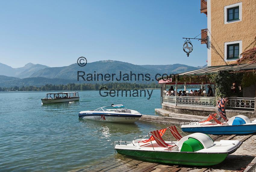 Austria, Upper Austria, Salzkammergut, St. Wolfgang at Lake Wolfgang: The White Roessl - The White Horse Inn