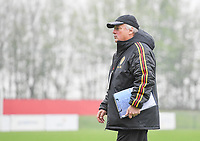 20190409 - TUBIZE , Belgium : Belgian David Delferiere , chairman womensoccer for the Belgian Football Association pictured during a women soccer game between the under 19 teams of Belgium and Poland. This is the Third and final game in their elite round qualification for the European Championship in Schotland 2019. The Belgian national women's soccer team is called the Red Flames, on the 9 th of April in Tubize. PHOTO DAVID CATRY | Sportpix.be