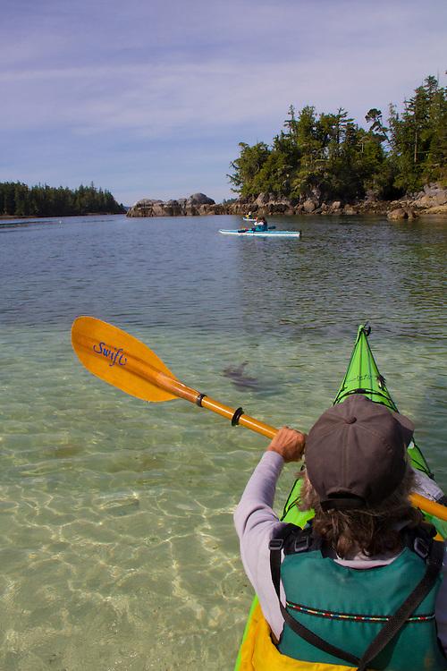 Vancouver Island, Stud Islets, Barkley Sound, Deer Group, British Columbia, Canada, sea kayakers, wilderness coast,