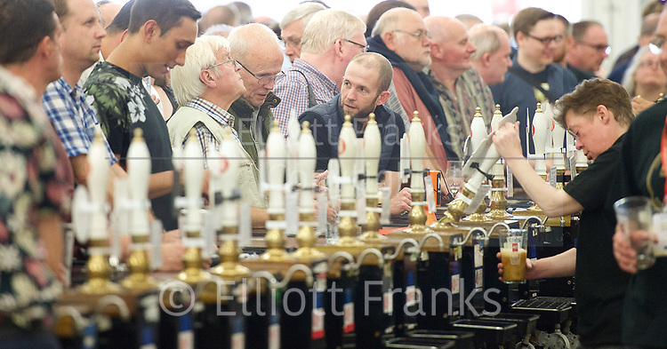 Great British Beer Festival <br /> at Olympia, London, Great Britain <br /> 12th August 2017 <br /> <br /> General view at the 40th Anniversary of the Great British Beer Festival. <br /> <br /> Photograph by Elliott Franks <br /> Image licensed to Elliott Franks Photography Services