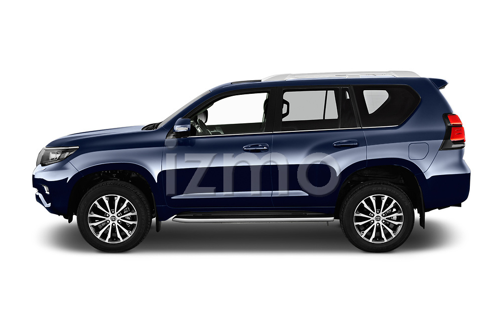 Car Driver side profile view of a 2018 Toyota Land-Cruiser-150 Lounge 5 Door SUV Side View