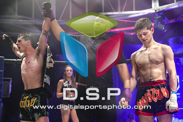 Cameron Crocker Vs Ryan Neilson - Pro K1 English Title Fight During Fast and Furious Fight Series 17. Photo by: Stephen Smith<br /> <br /> Saturday 18th November 2017 - Oceana, Southampton, Hampshire, United Kingdom.