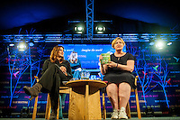 Hay on Wye, UK. Sunday 29 May 2016<br /> Pictured: Alex Clark talk to to Kanine Di Giovanni Re: The 2016 Hay festival take place at Hay on Wye, Powys, Wales