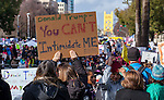 "Thousands of people gathered at Southside Park in Sacramento, California to participate in the Women's March on Sacramento on January 21, 2017.  The Women's March on Sacramento, a ""sister"" march to the National Women's March on Washington, D.C. began at Southside Park and marched through the city of Sacramento to the California State Capitol Building.  The march, one of hundreds around the world, was in solidarity for the protection of human rights in response to the rhetoric of the 2016 presidential election cycle which witnessed the election of Donald Trump to be the 45th president of the United States.  Photo/Victoria Sheridan 2017"