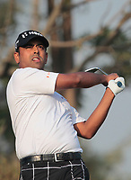 Anirban Lahiri (IND) in action on the 12th during Round 2 of the Hero Indian Open at the DLF Golf and Country Club on Friday 9th March 2018.<br /> Picture:  Thos Caffrey / www.golffile.ie<br /> <br /> All photo usage must carry mandatory copyright credit (&copy; Golffile | Thos Caffrey)