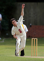 Tom Wakeford bowls for North London during the Middlesex County Cricket League Division Three game between North London and Brentham at Park Road, London, on Sat July 23, 2016