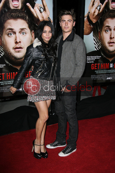 """Vanessa Hudgens, Zac Efron<br /> at the """"Get Him To The Greek"""" Los Angeles Premiere, Greek Theater, Los Angeles, CA. 05-25-10<br /> David Edwards/Dailyceleb.com 818-249-4998"""