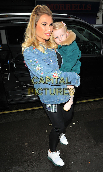 Billie Faiers and Nelly Samantha Shepherd at the Disney On Ice Mouse Bounce VIP party, 93 Mortimer Street, Mortimer Street, London, England, UK, on Wednesday 15 February 2017.<br /> CAP/CAN<br /> &copy;CAN/Capital Pictures