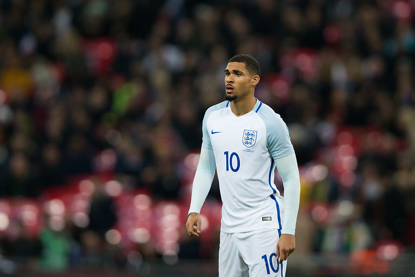 England's Ruben Loftus-Cheek <br /> <br /> Photographer Craig Mercer/CameraSport<br /> <br /> The Bobby Moore Fund International - England v Brazil - Tuesday 14th November 2017 Wembley Stadium - London  <br /> <br /> World Copyright &copy; 2017 CameraSport. All rights reserved. 43 Linden Ave. Countesthorpe. Leicester. England. LE8 5PG - Tel: +44 (0) 116 277 4147 - admin@camerasport.com - www.camerasport.com