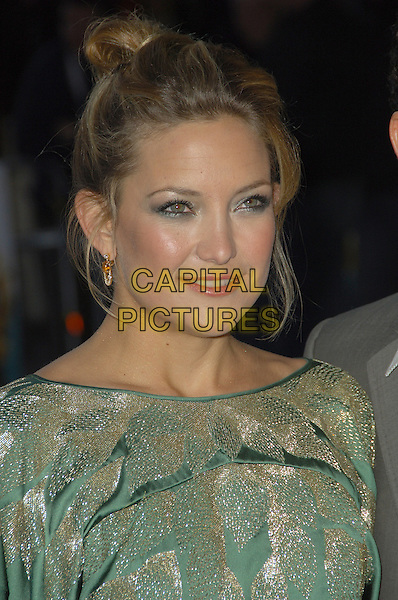 "KATE HUDSON.""Fool's Gold"" - UK film premiere,.Vue Leicester Square, London, .April 10th 2008..Fools portrait headshot green gold earrings make-up eyeshadow .CAP/CAS.©Bob Cass/Capital Pictures"