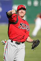 May 2, 2010: Daniel Robertson of the Lake Elsinore Storm during game against the Lancaster JetHawks at Clear Channel Stadium in Lancaster,CA.  Photo by Larry Goren/Four Seam Images