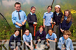 At Sneem National School Garden .Back Row L-R James O'Shea, Mary Threasa Burns, Tara Murphy, Aicha Van Daele, Catriona Murphy. .Front L-R Siobhan O'Sullivan, Rachael Looney, Saoirse Kavanagh, Stephanie Burns, David O'Sullivan