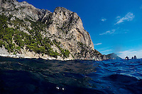 The coast is seen during a boat tour on Monday, Sept. 21, 2015, off the island of Capri in Italy. (Photo by James Brosher)