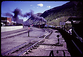 D&amp;RGW #481 K-36 leaving Durango yards, Centennial Celebration - 1981<br /> D&amp;RGW  Durango, CO  1981
