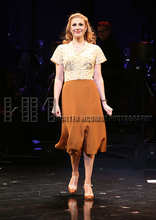 Siobhan Dillon during the Opening Night Curtain Call bows for Andrew Lloyd Webber's 'Sunset Boulevard' at the Palace Theatre on February 9, 2017 in New York City.
